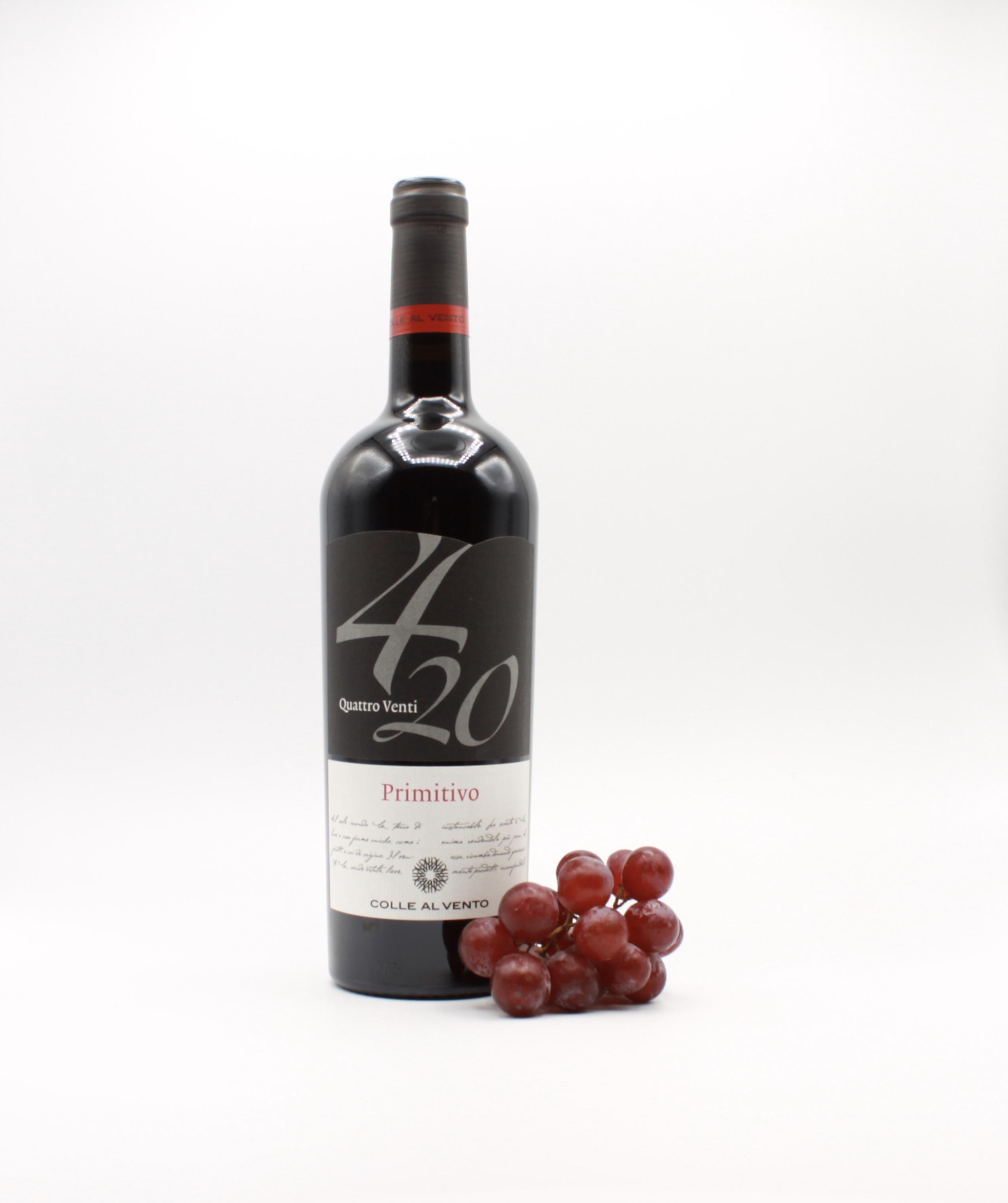 Primitivo Salento IGP 4/20 - Colle al Vento, Italienischer Rotwein