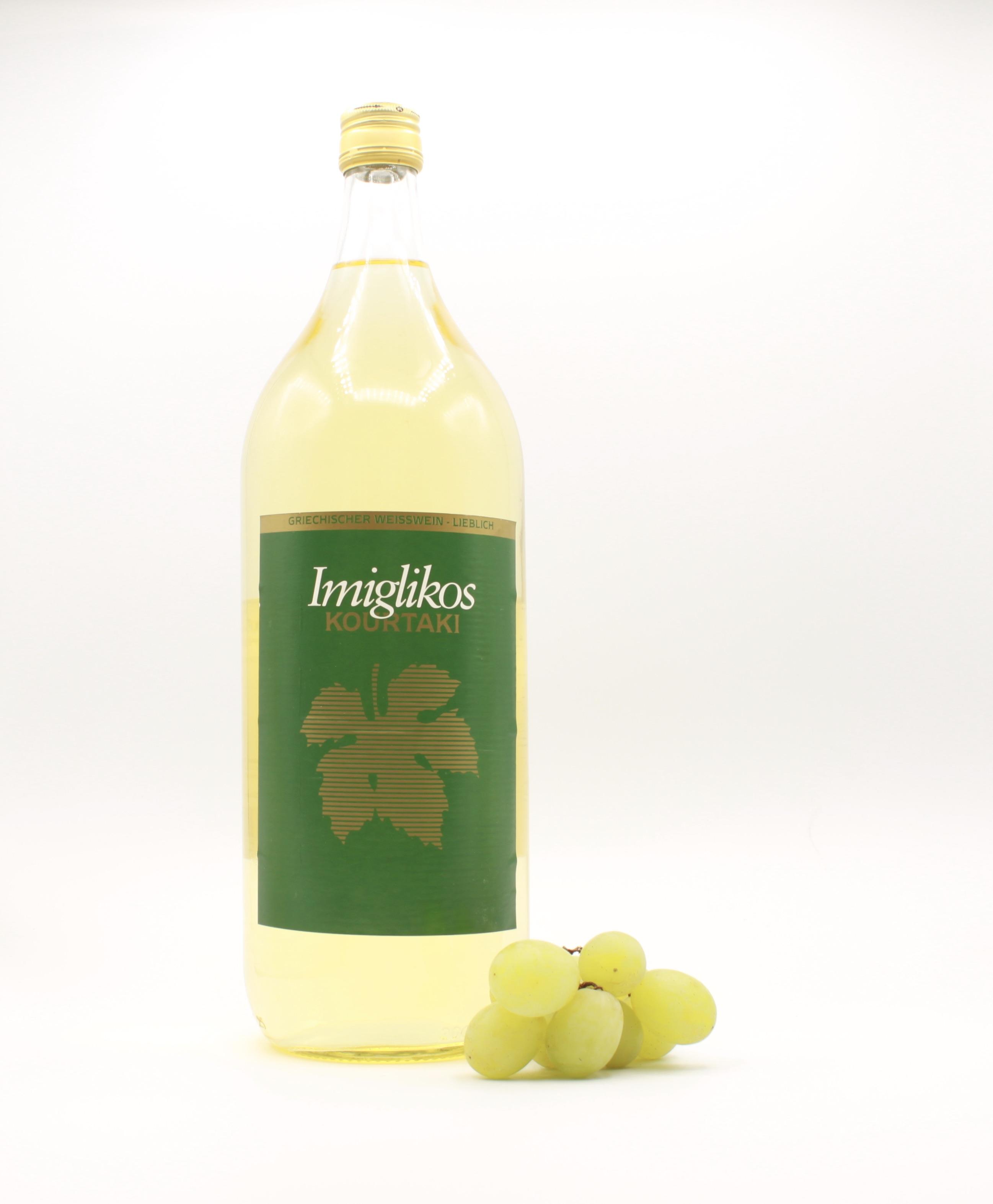 Imiglykos weiß - Kourtaki, Griechischer Weißwein, 2l