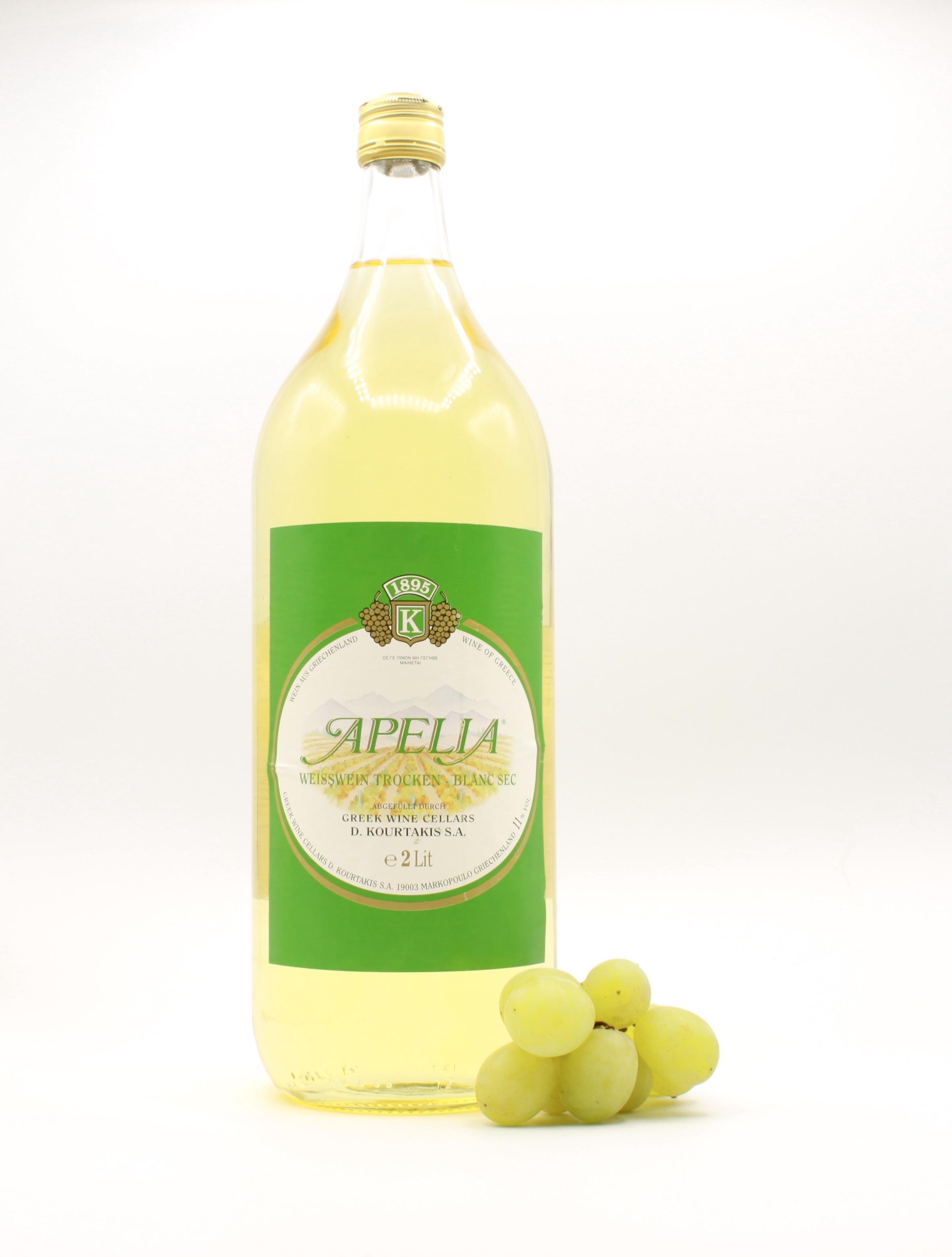 Apelia weiß - Kourtaki, Griechischer Weißwein, 2l