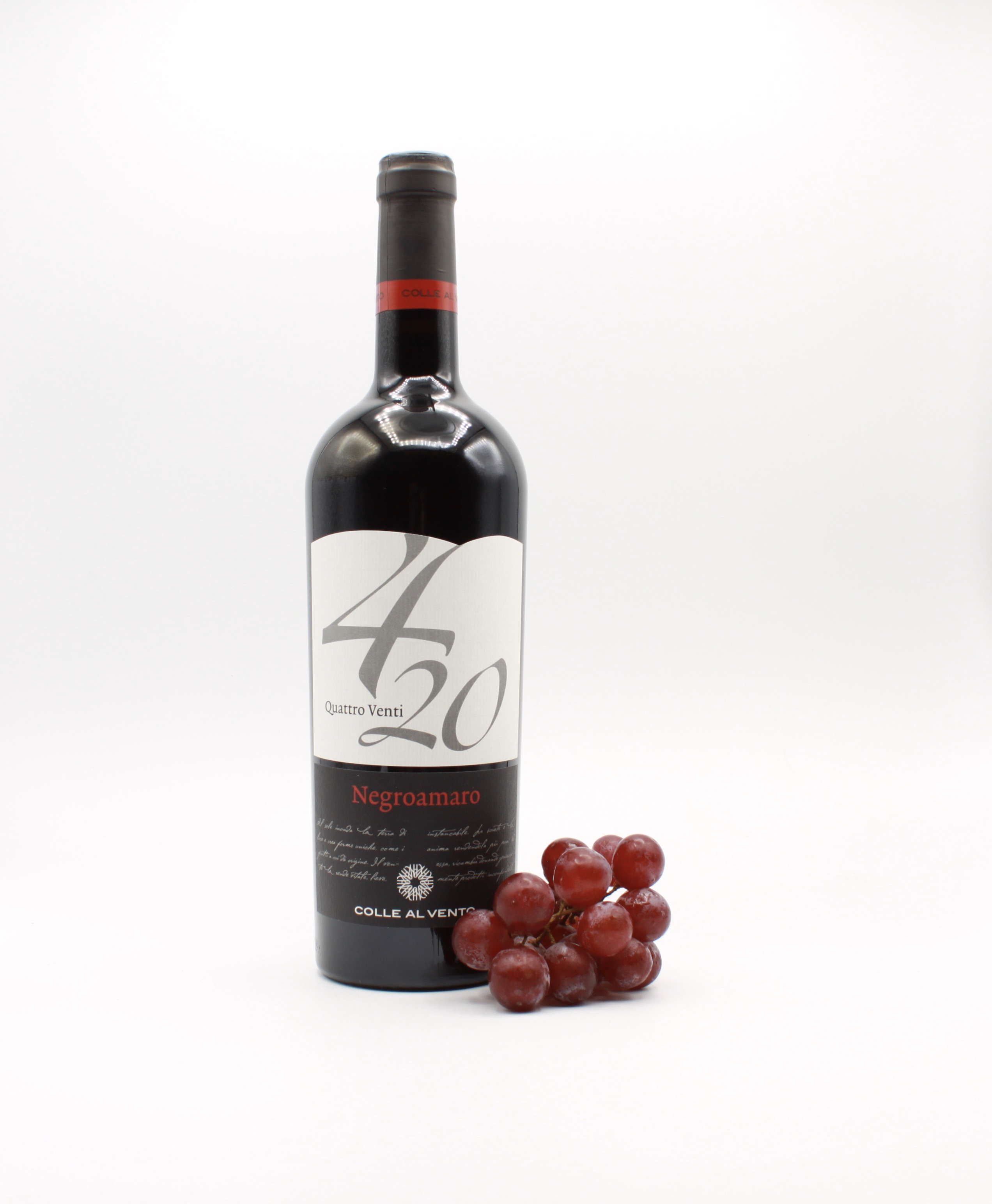 Negroamaro Salento IGP 4/20 - Colle al Vento, Italienischer Rotwein