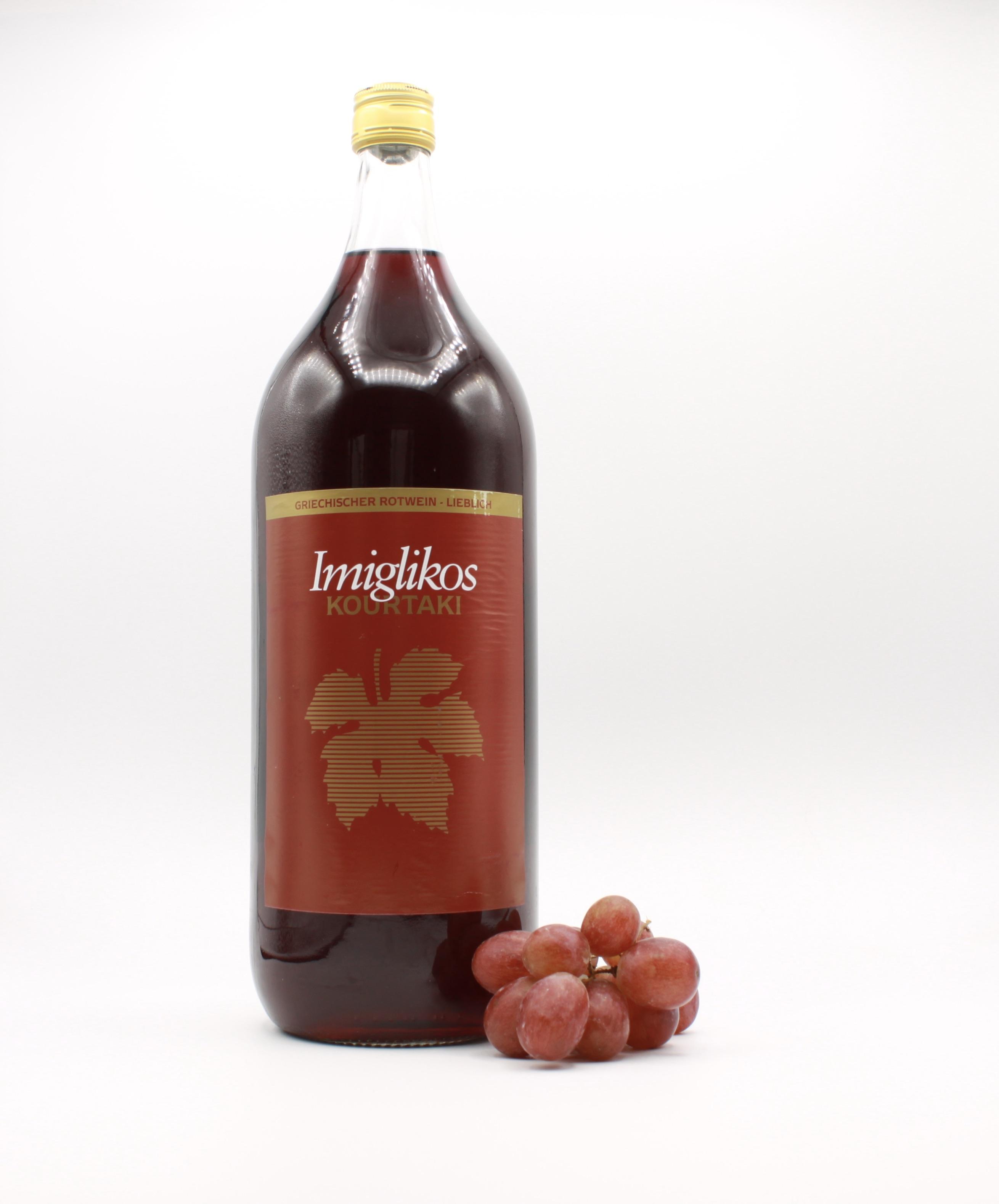 Imiglykos rot - Kourtaki, Griechischer Rotwein 2l
