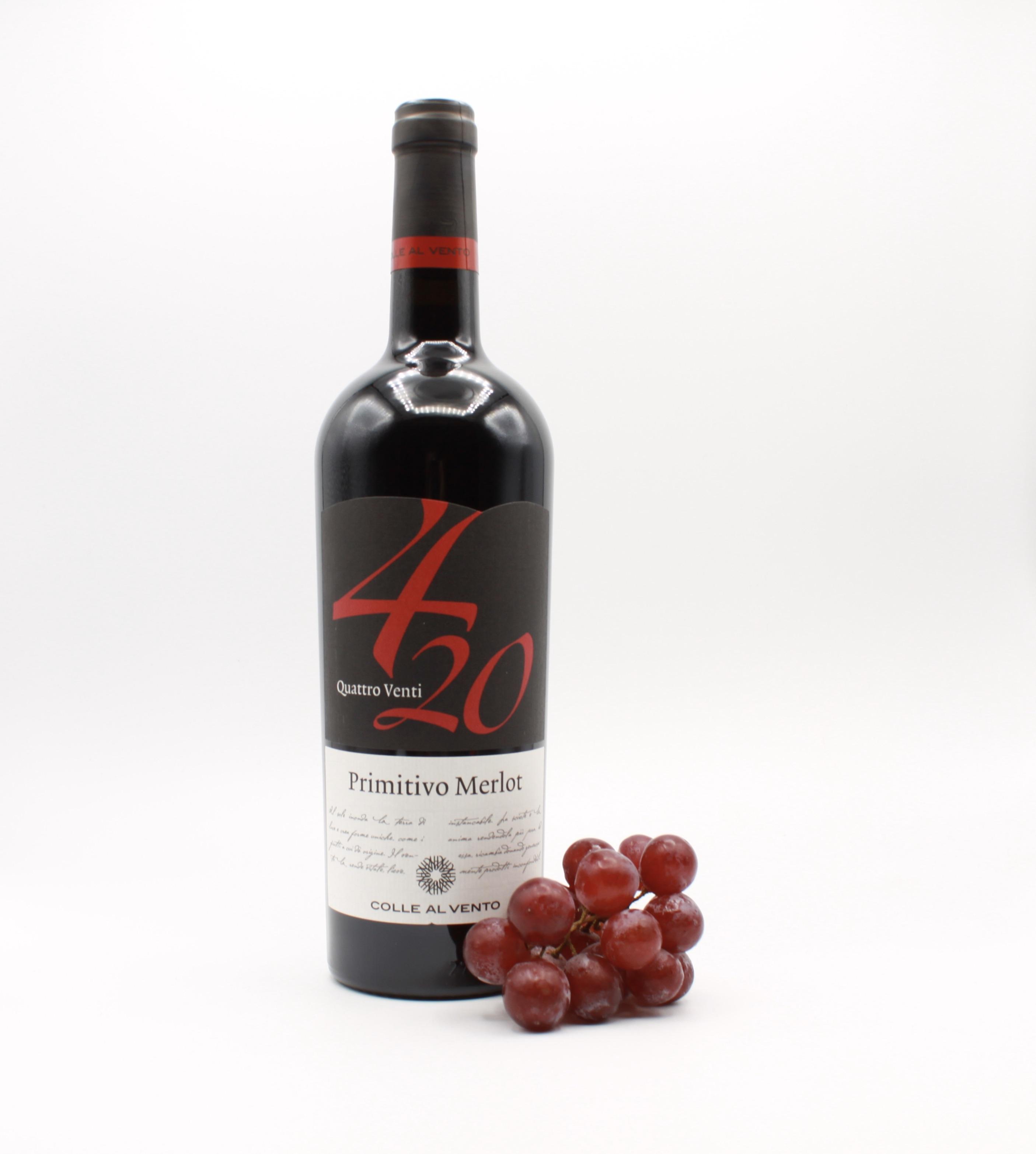 Primitivo Merlot IGP 4/20 - Colle al Vento, Italienischer Rotwein
