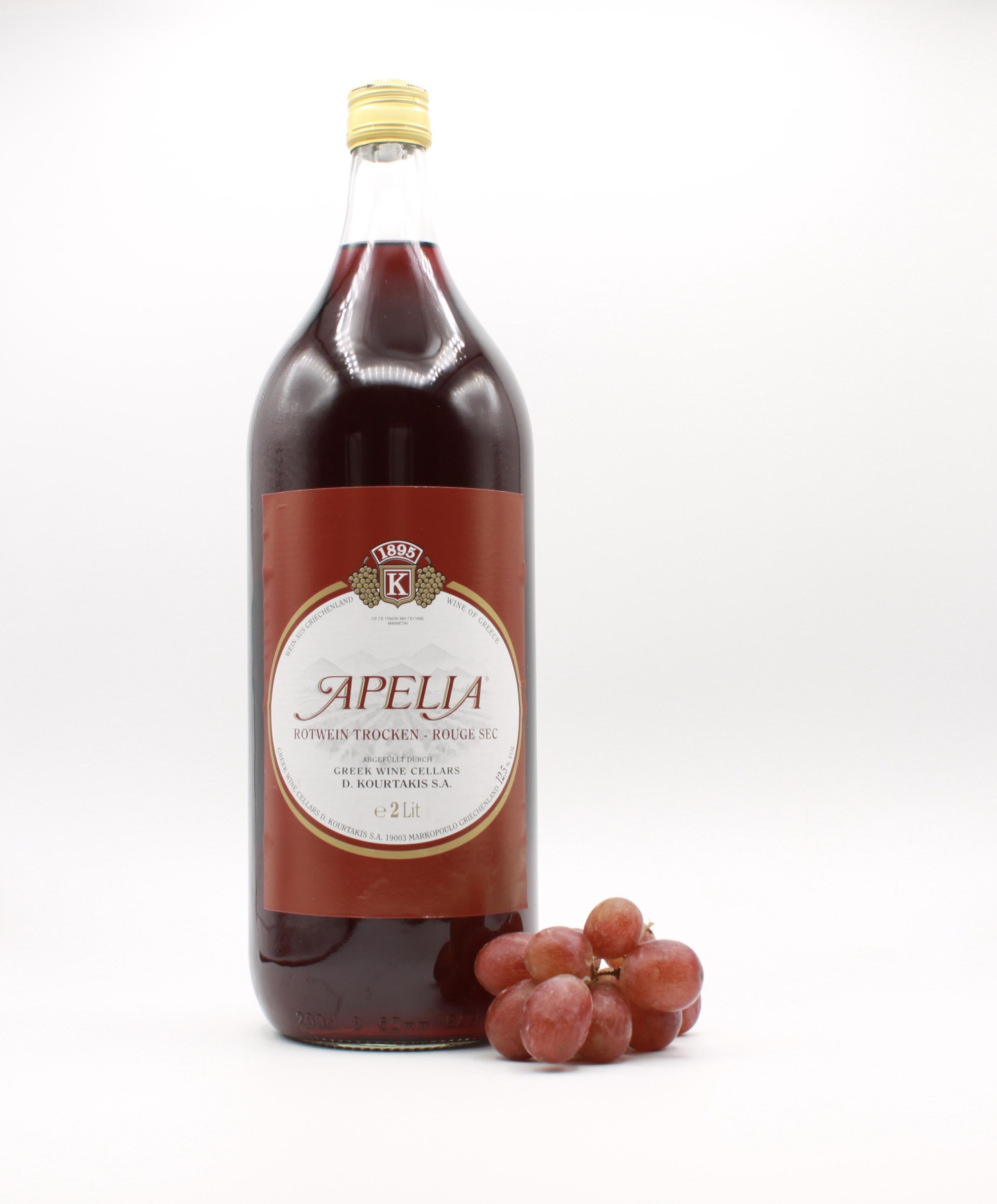 Apelia rot - Kourtaki, Griechischer Rotwein, 2l