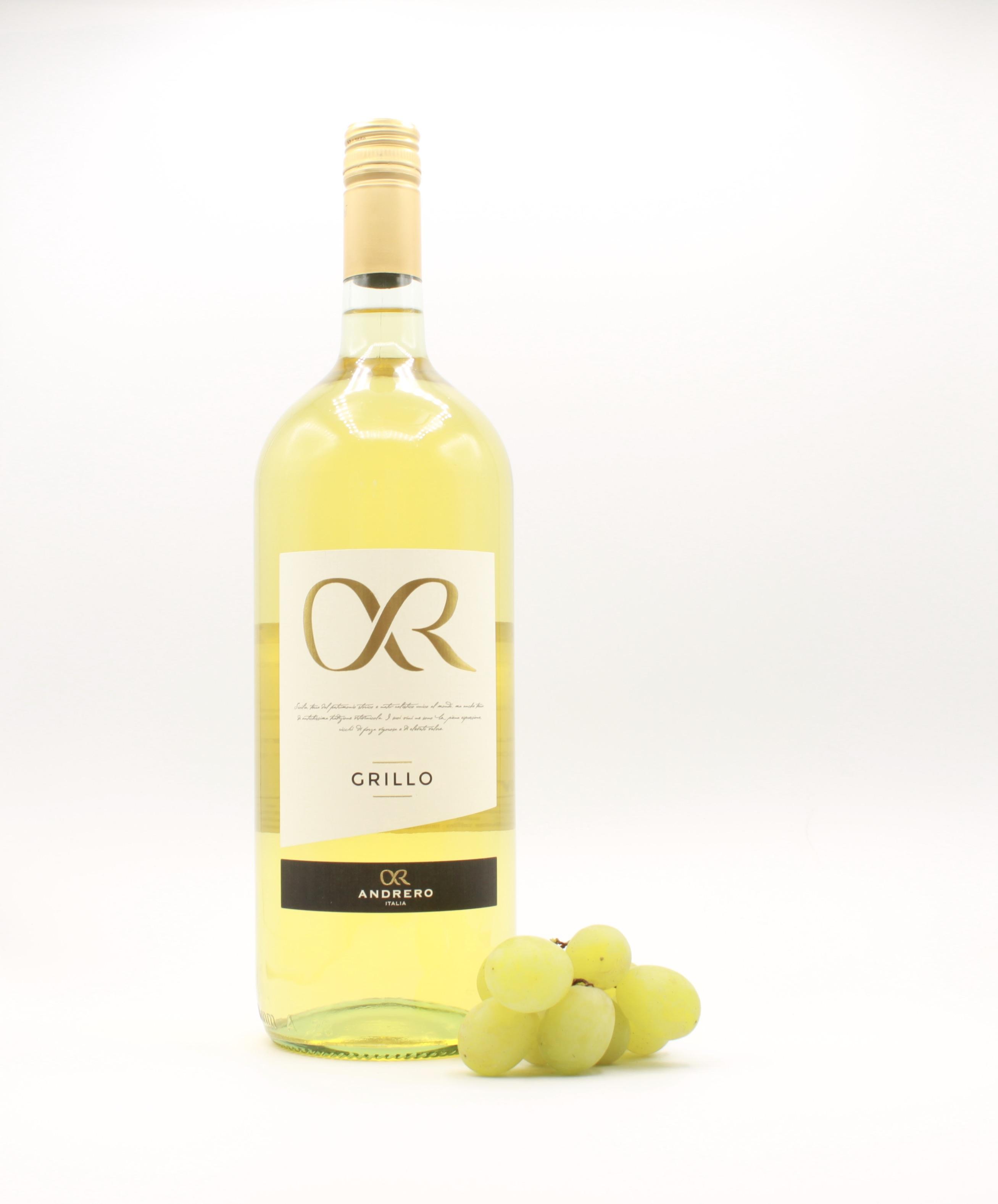Grillo Mongreno - Andrero, Italienischer Weißwein 1,5l