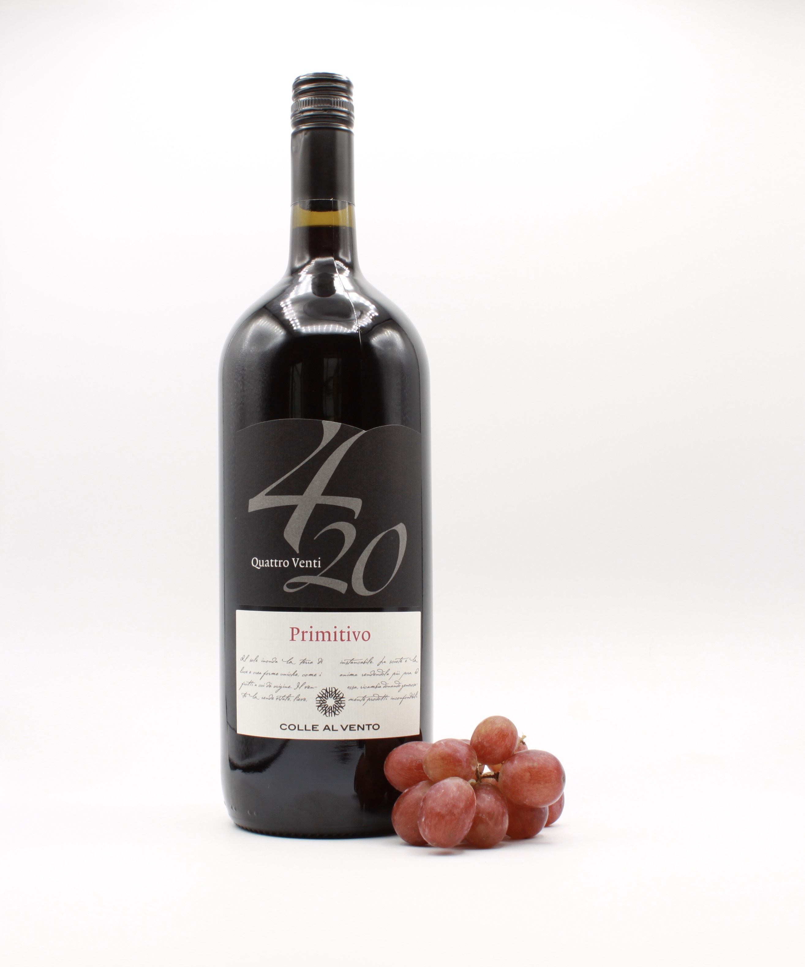 Primitivo Salento IGP 4/20 - Colle al Vento, Italienischer Rotwein 1,5 l